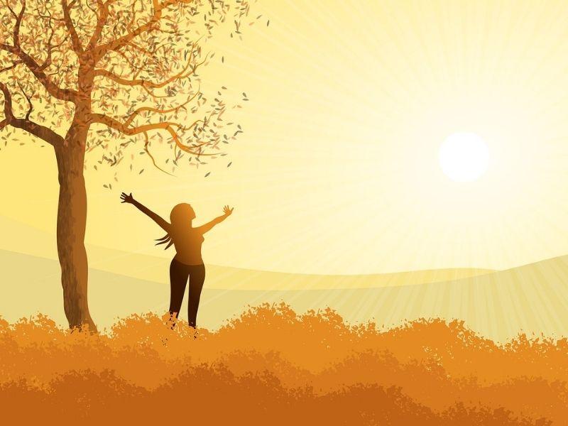 全身に陽光を浴びるイメージ